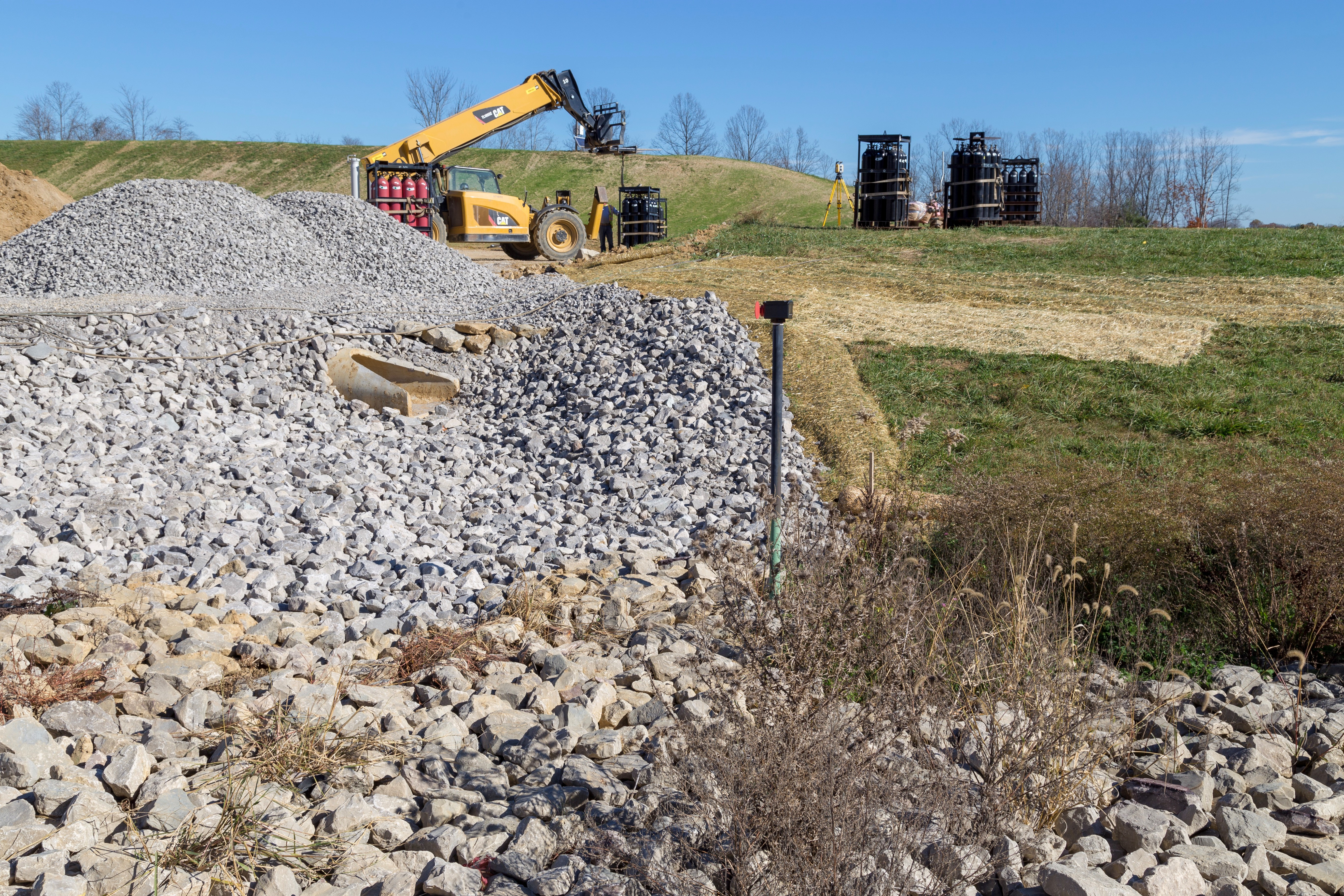 tallgrass culvert rock silt fence