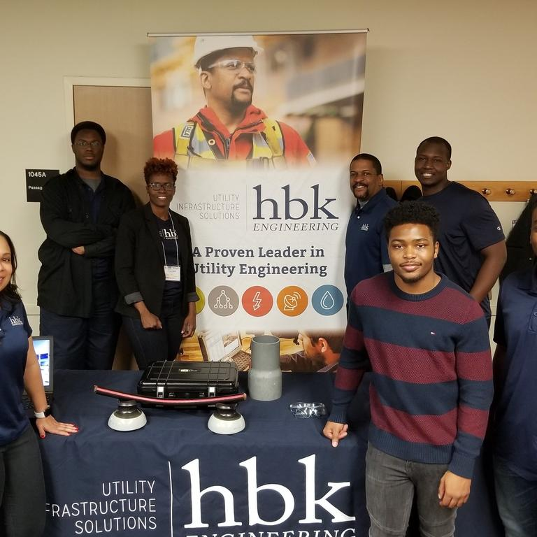 HBK employees host table at NSBE E-Week Expo