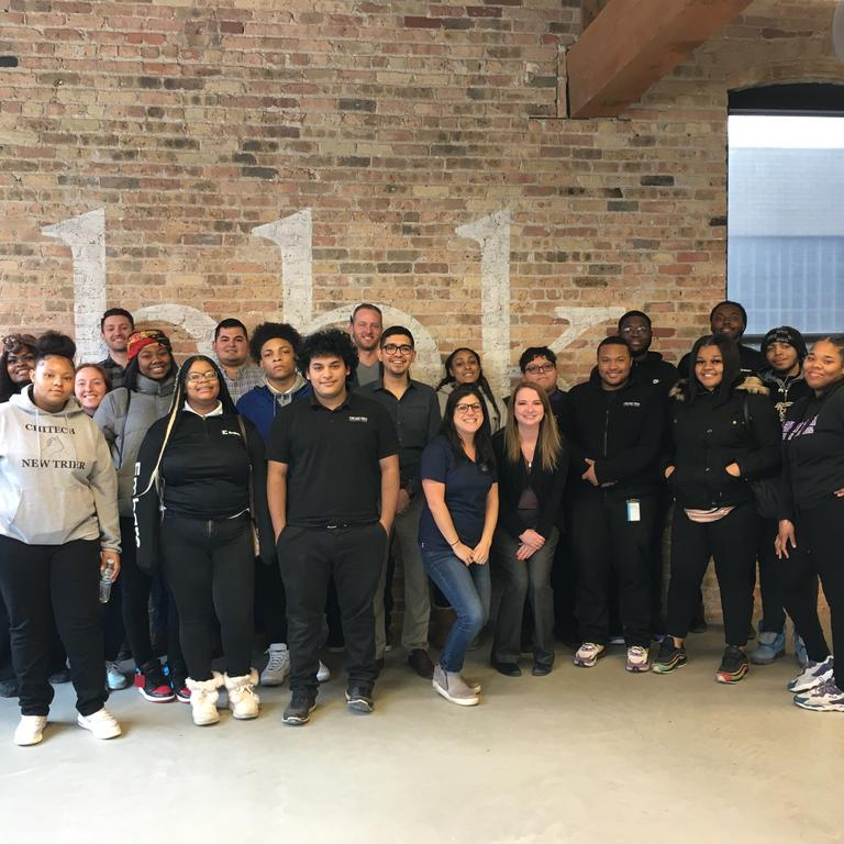 Embarc Chicago students visited HBK Carroll for a career day