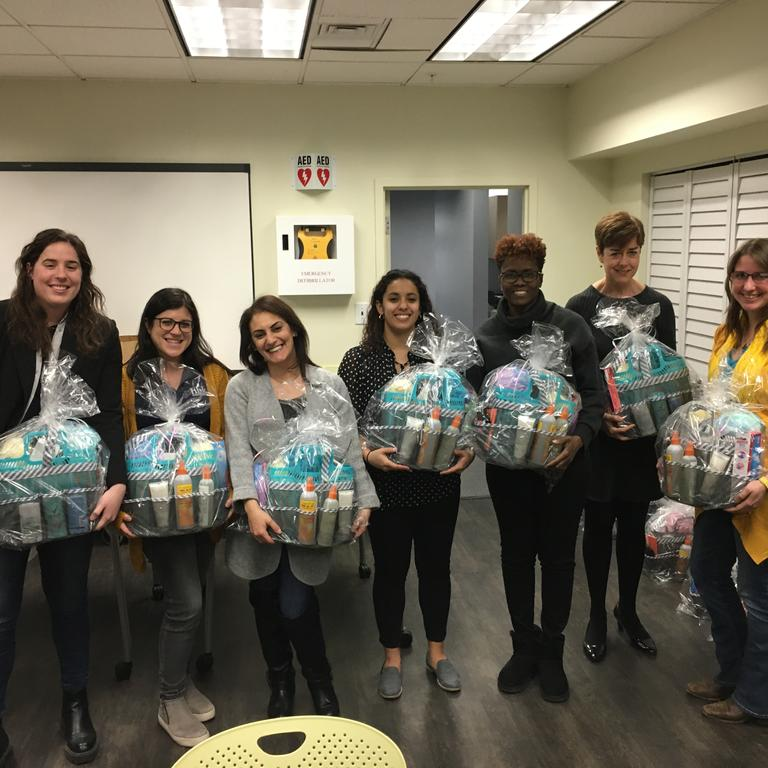 HBK Engineering and Strive Employee Resource Group presented the ChildServ girls with toiletry kits
